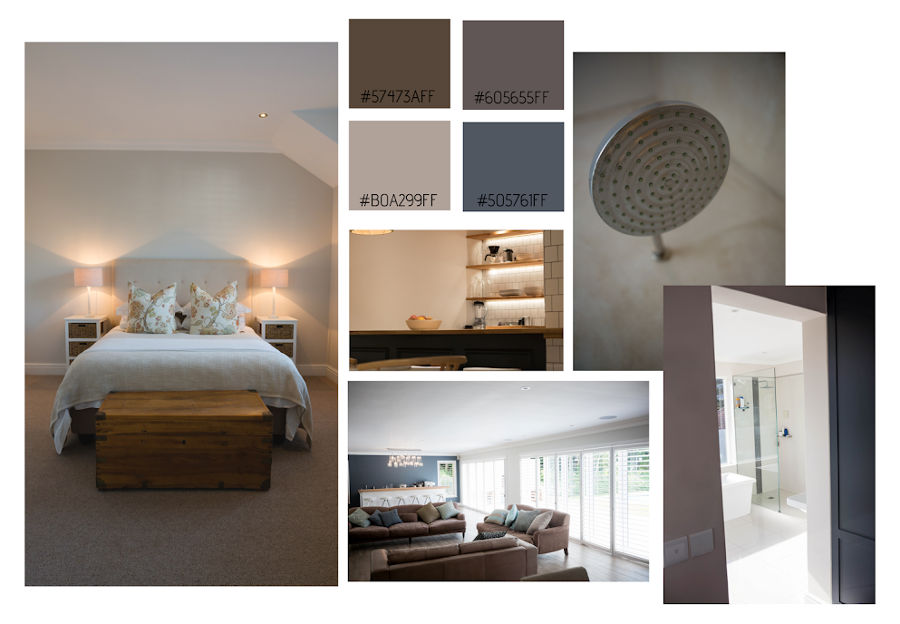 Mood board collage of a beige bedroom aesthetic