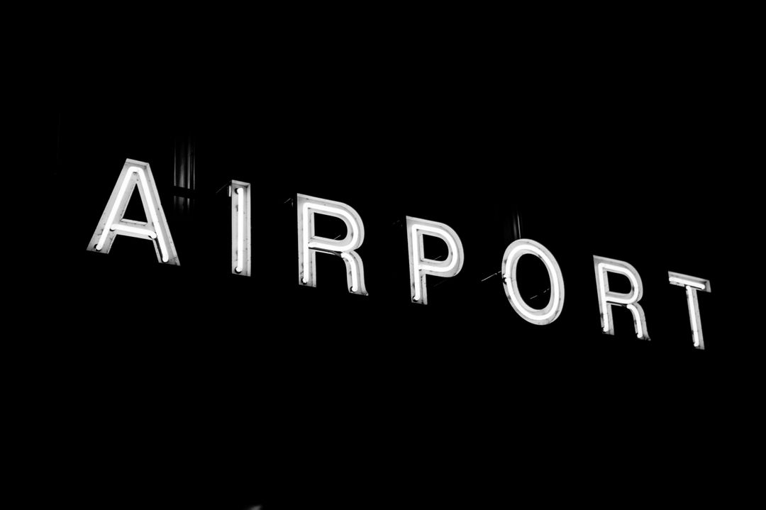 Airport sign led