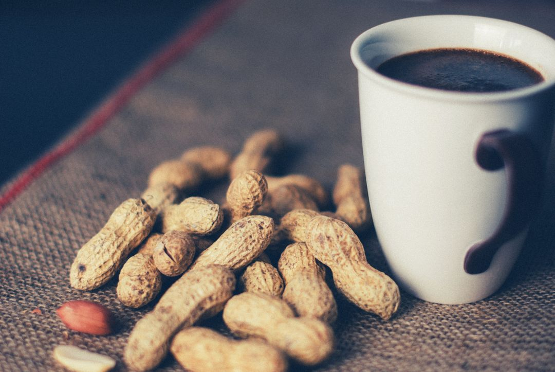 Coffee theme coffee peanuts