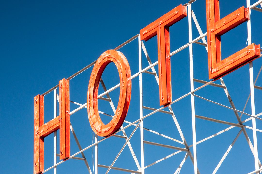 Hotel sign letters