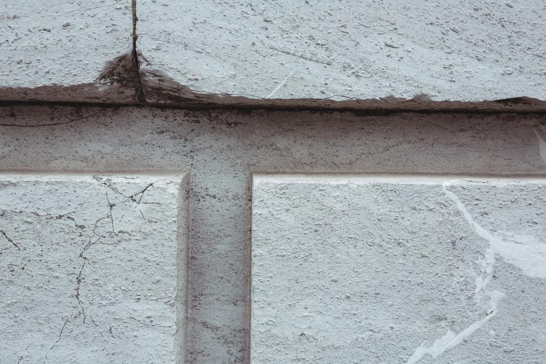 Close-up of white painted stone wall background, full frame