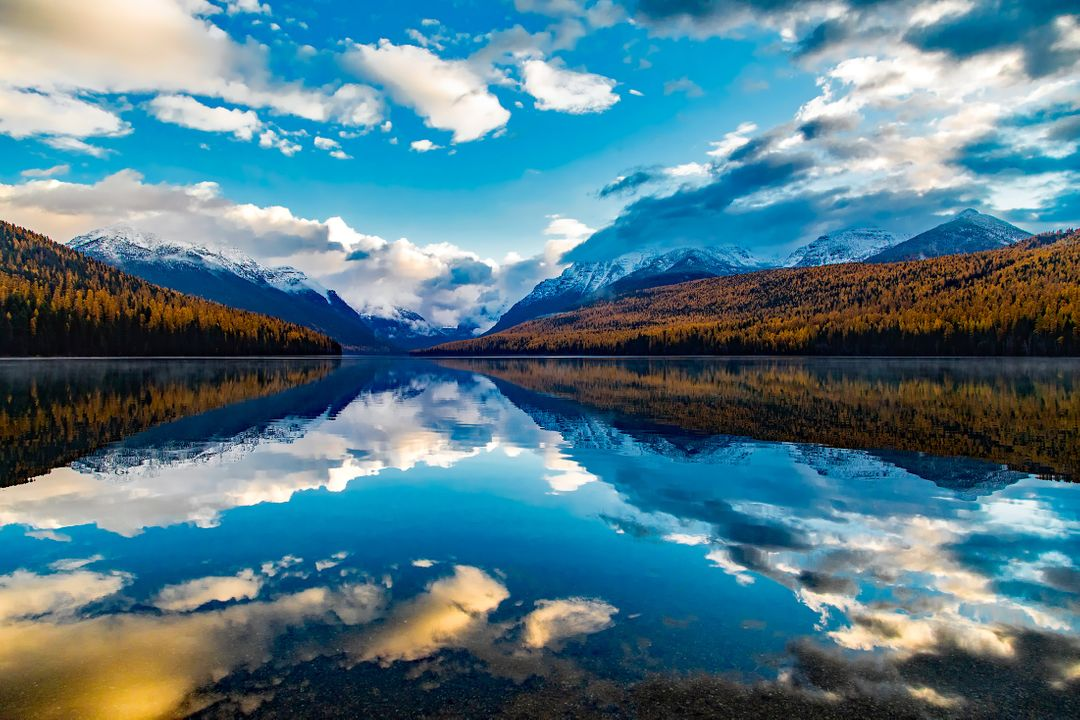 Clouds lake lake mcdonald landscape