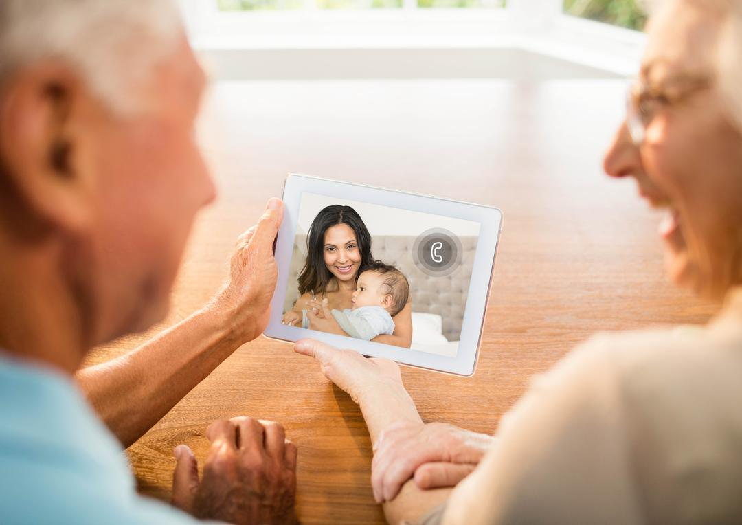 Senior couple having a video chat on digital tablet at home Free Stock Images from PikWizard