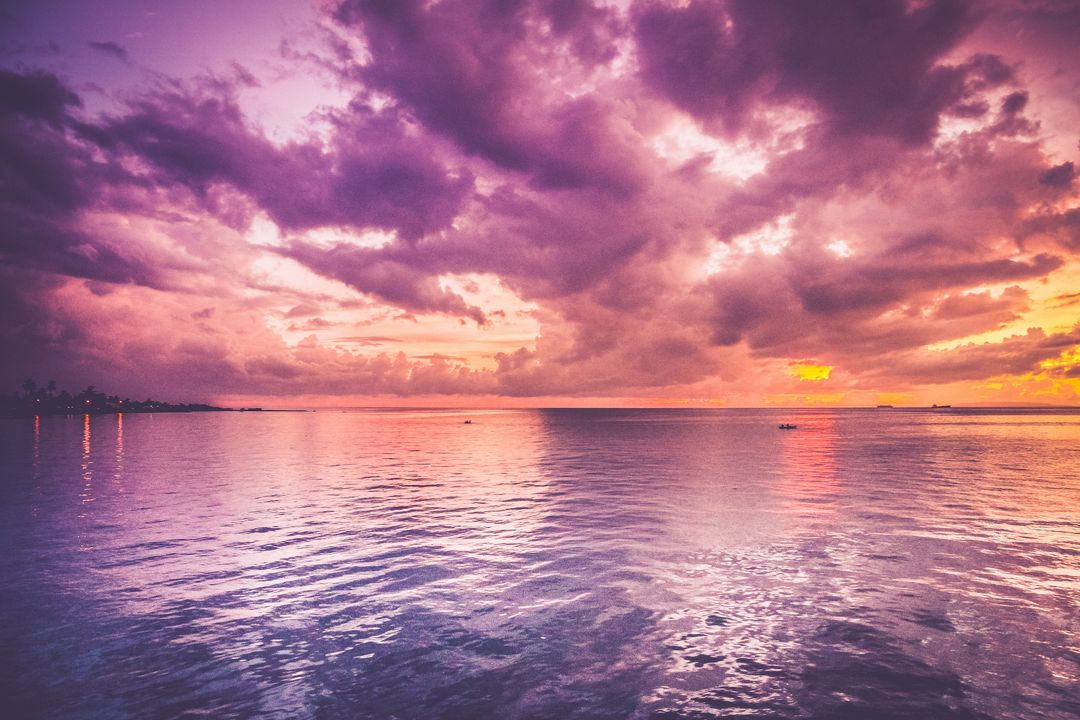 Image of a Cassis toned Sunset at the Sea