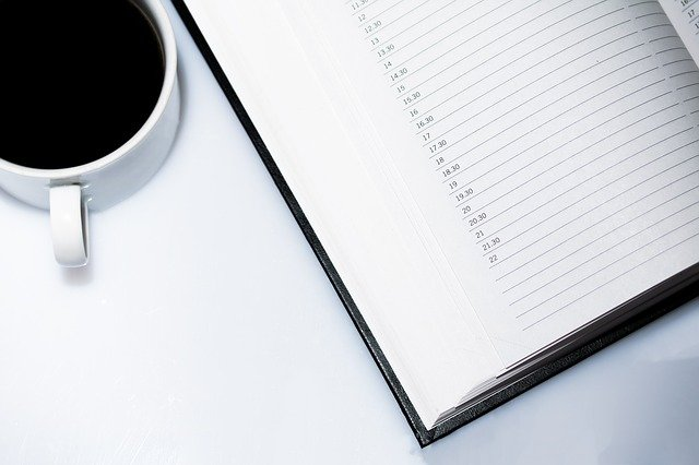 Note Pad and Coffee