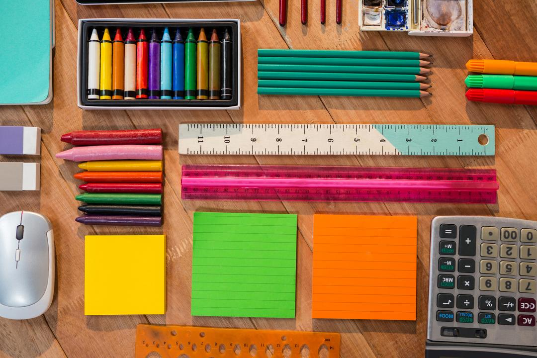 Various types of stationery on a table Free Stock Images from PikWizard