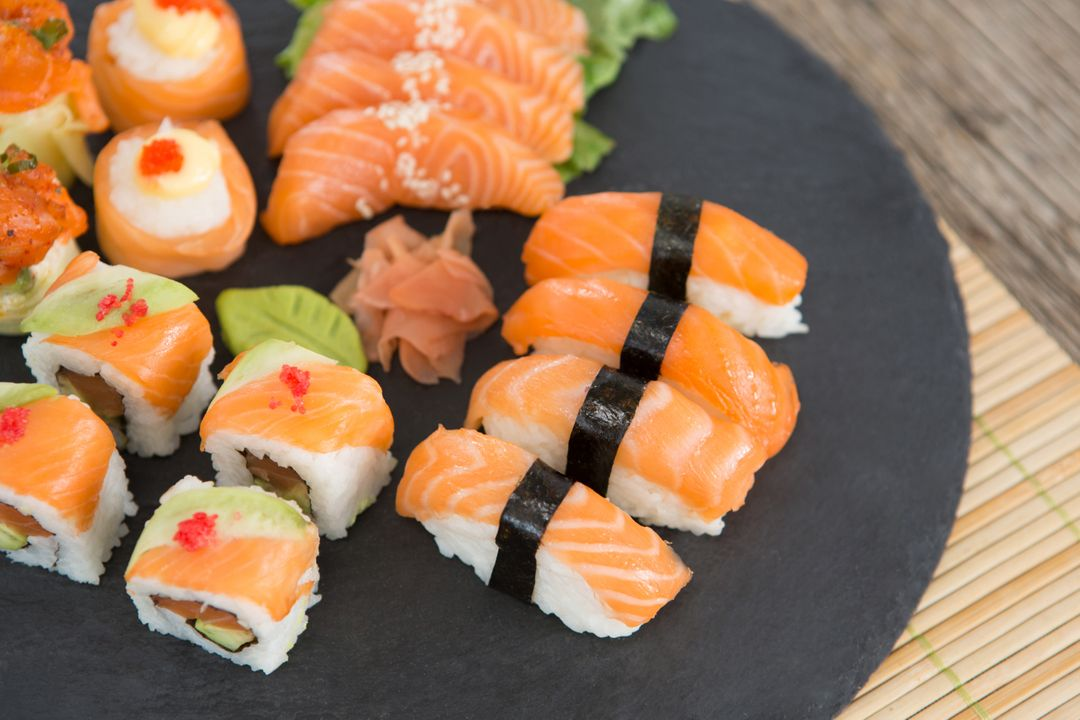Image of Sushi with Salmon
