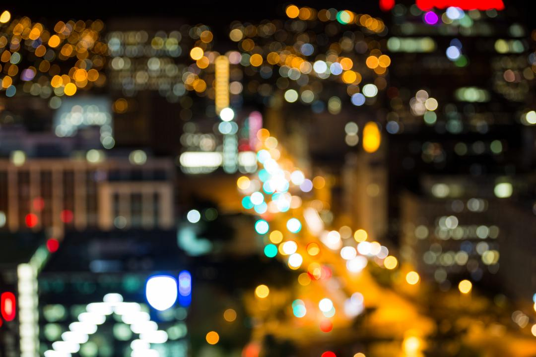 Blurred Image of a City at Night