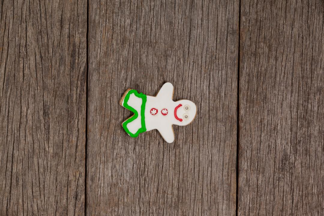 Overhead view of gingerbread on a plank Free Stock Images from PikWizard