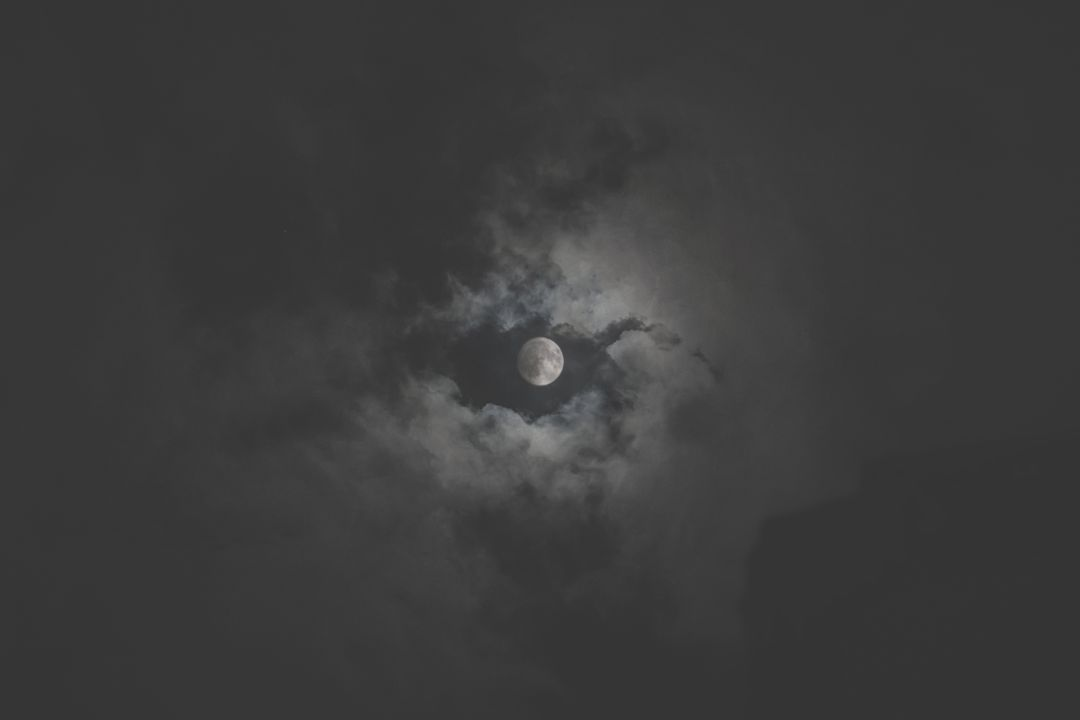Moon Clouds Night Free Photo