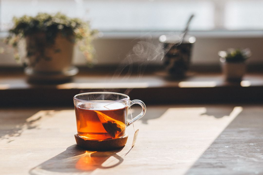 Cup Hot Tea Wood Table Free Photo