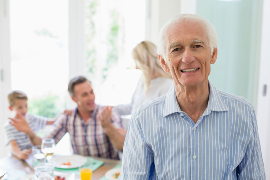 Portrait of senior man smiling at home Free Stock Images from PikWizard