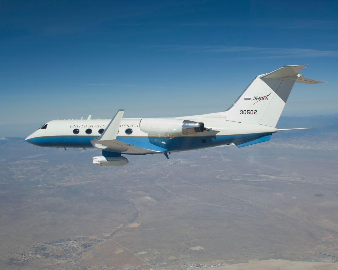The effect of the underbelly UAVSAR pod on the aerodynamics of NASA's Gulfstream-III research aircraft was evaluated during several check flights in early 2007.