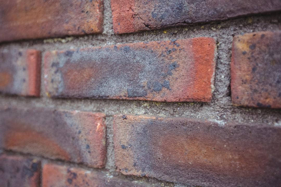 Close-up of modern brick wall background, full frame