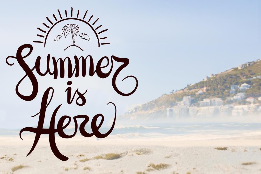 Digital composite of summer is here vector Free Stock Images from PikWizard