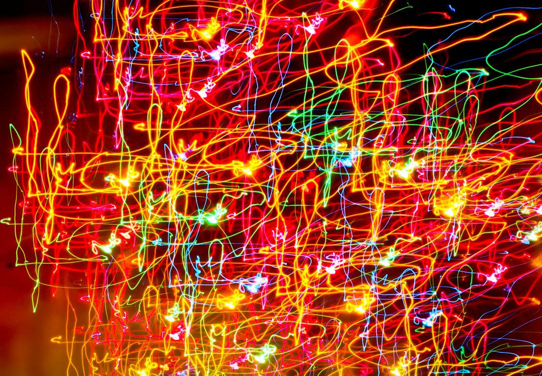 neon lights in slow motion zoom background