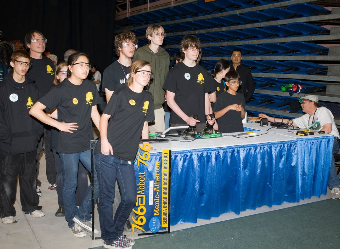 For Inspiration and Recognition of Science and Technology; FIRST Robotics Competition 2010 Silicon Valley Regional held at San Jose State University, San Jose, California  M-A Bears, Menlo-Atherton H.S., CA Team 766