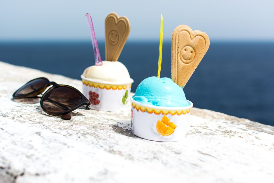 Ice Cream Cone Seaside Summer Free Photo