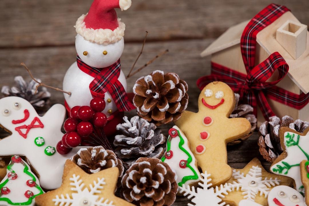 Close-up of snowman with various decoration Free Stock Images from PikWizard