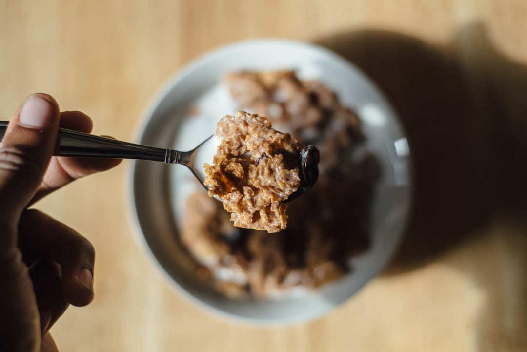 Cereal healthy breakfast spoon