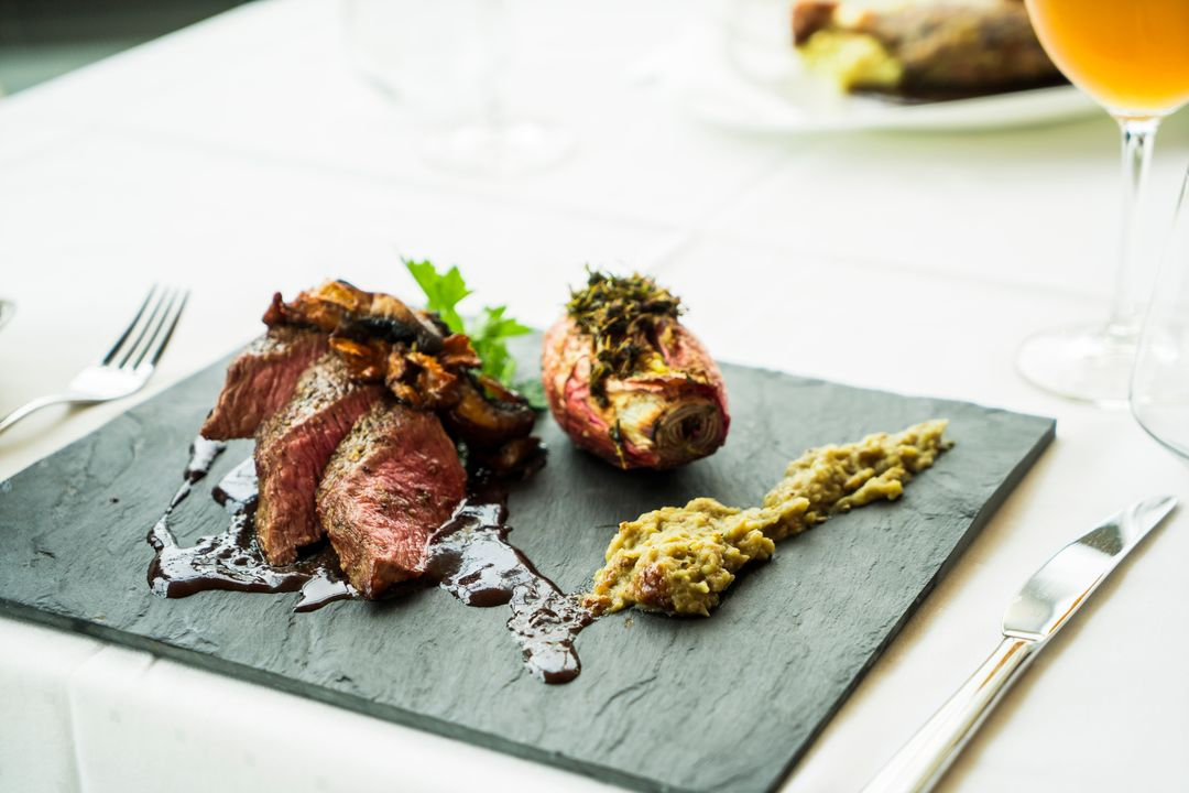Image of a Plate with Medium Rare Stake