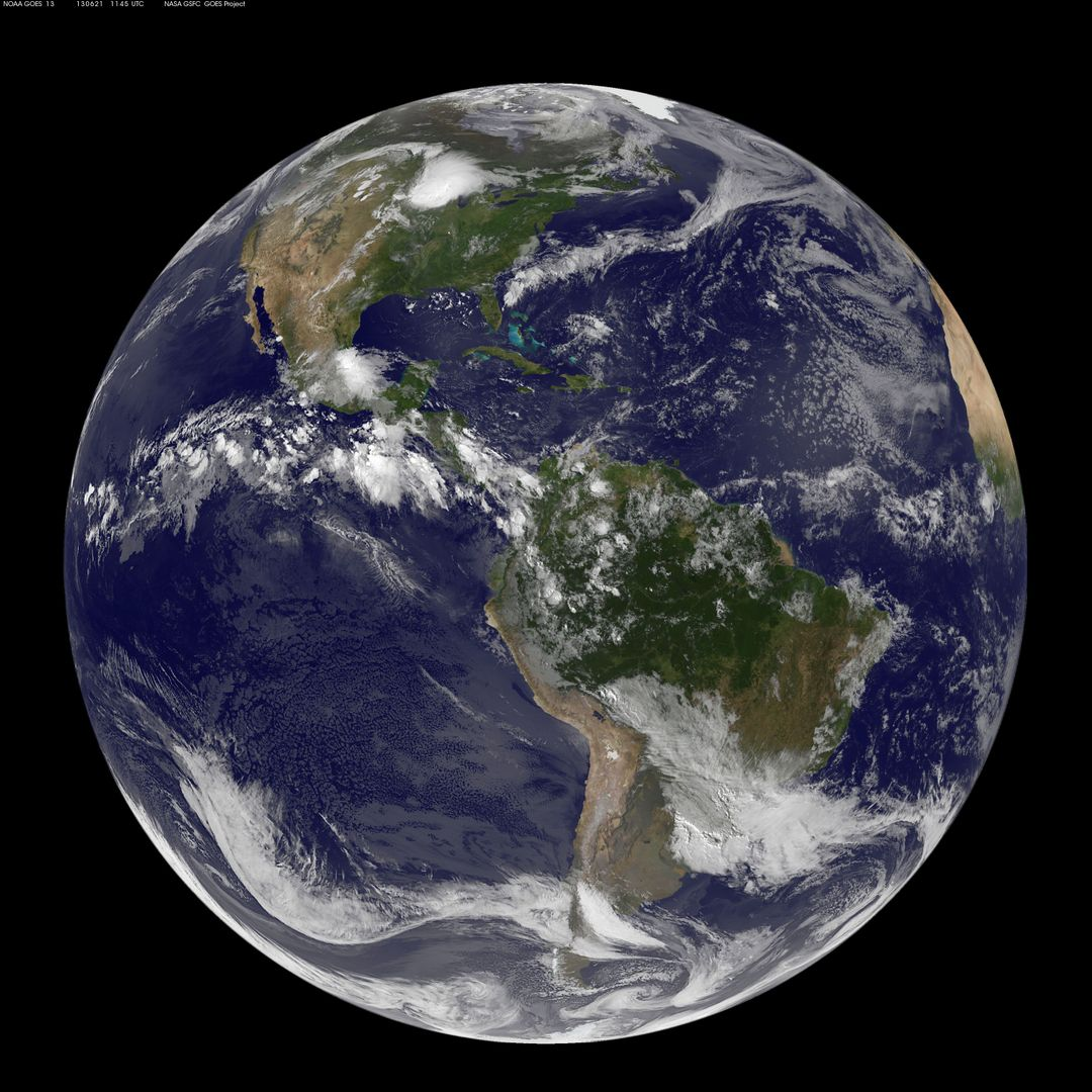 "This full-disk image from NOAA's GOES-13 satellite was captured at 11:45 UTC (7:45 a.m. EDT) and shows the Americas on June 21, 2012. This date marks the start of astronomical summer in the northern hemisphere, making it the longest day of the year!  <b><a href=""http://www.nasa.gov/audience/formedia/features/MP_Photo_Guidelines.html"" rel=""nofollow"">NASA image use policy.</a></b>  <b><a href=""http://www.nasa.gov/centers/goddard/home/index.html"" rel=""nofollow"">NASA Goddard Space Flight Center</a></b> enables NASA's mission through four scientific endeavors: Earth Science, Heliophysics, Solar System Exploration, and Astrophysics. Goddard plays a leading role in NASA's accomplishments by contributing compelling scientific knowledge to advance the Agency's mission.  <b>Follow us on <a href=""http://twitter.com/NASA_GoddardPix"" rel=""nofollow"">Twitter</a></b>  <b>Like us on <a href=""http://www.facebook.com/pages/Greenbelt-MD/NASA-Goddard/395013845897?ref=tsd"" rel=""nofollow"">Facebook</a></b>  <b>Find us on <a href=""http://instagram.com/nasagoddard?vm=grid"" rel=""nofollow"">Instagram</a></b>"
