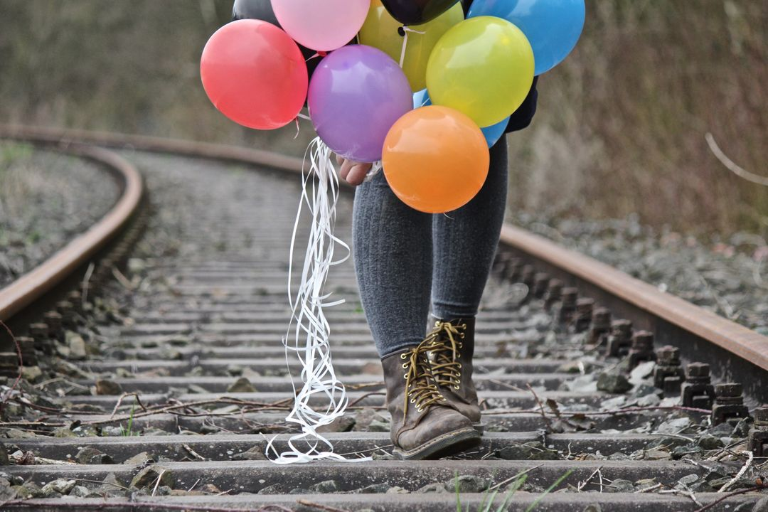 Balloons boots colorful colourful