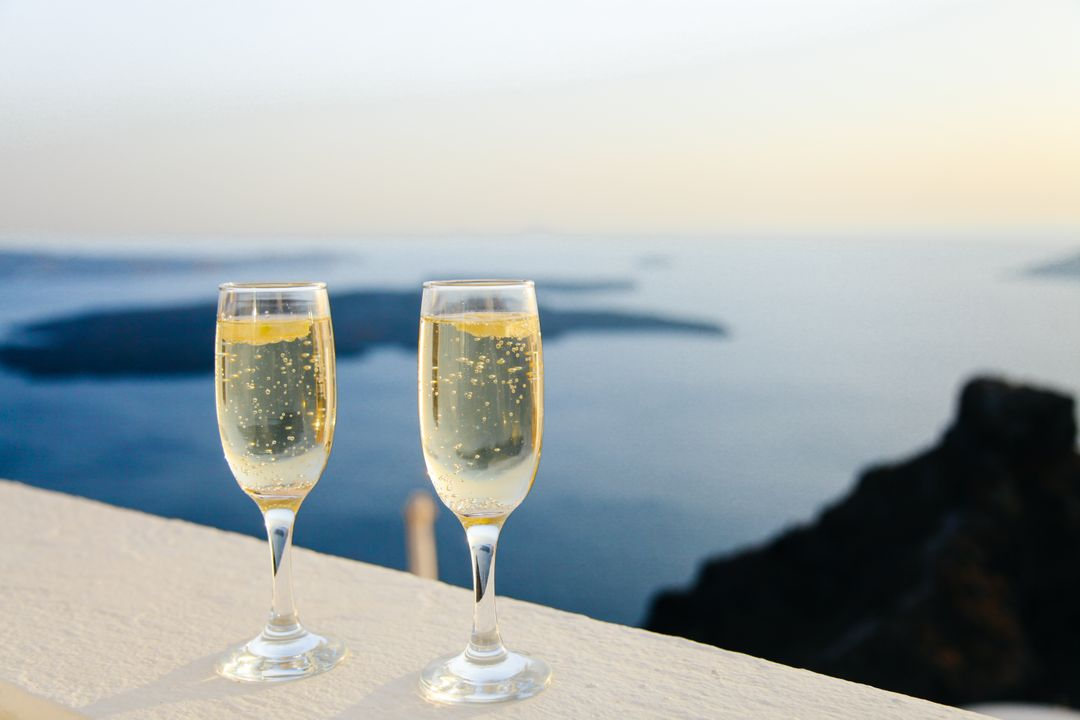 Image of Two Glasses Champagne