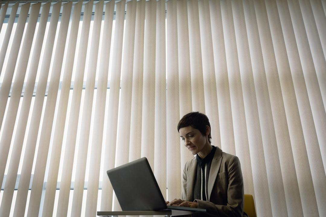 Beautiful businesswoman working over laptop in office Free Stock Images from PikWizard