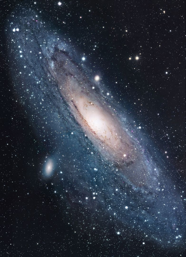 Andromeda celestial cosmos dust