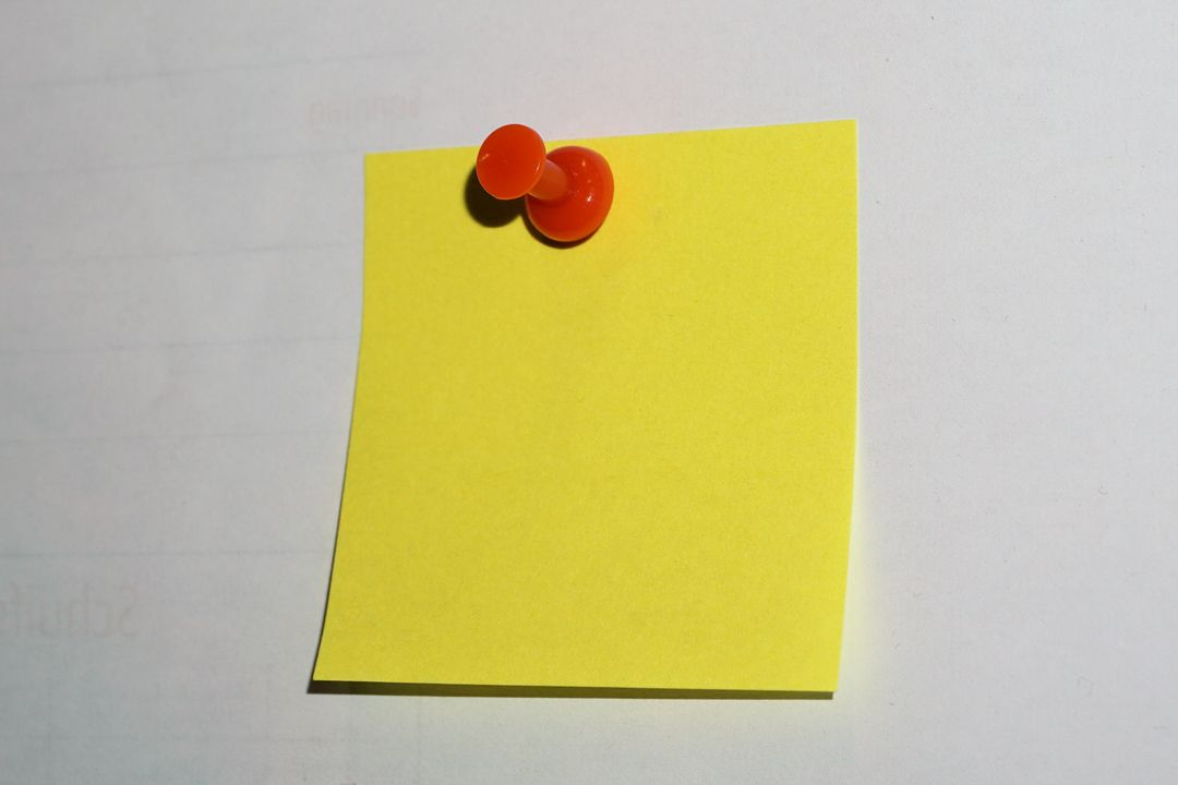 Adhesive note color colorful communication