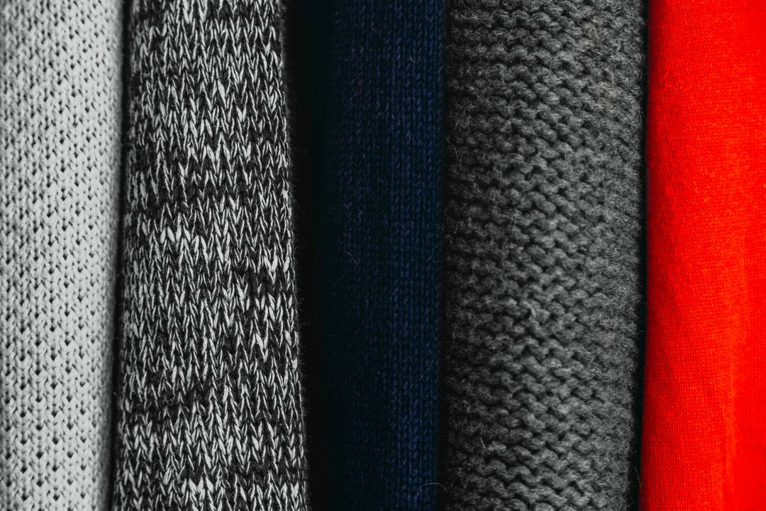 Image of a row of sweaters