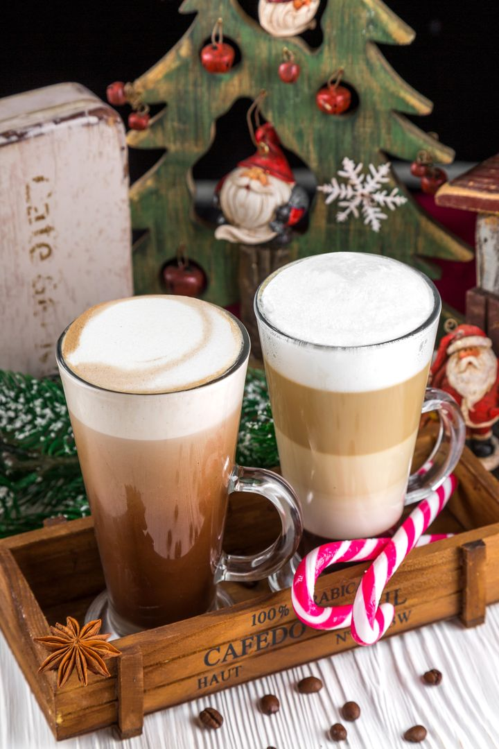 Candy canes chocolate christmas coffee
