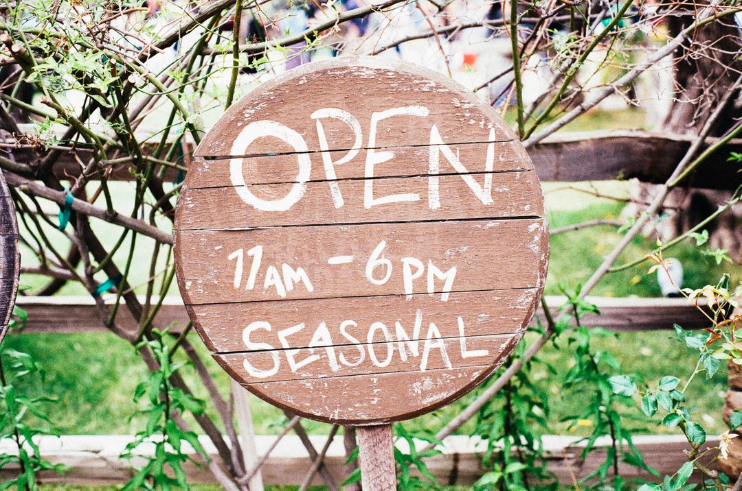 Open sign seasonal  Free Stock Images from PikWizard