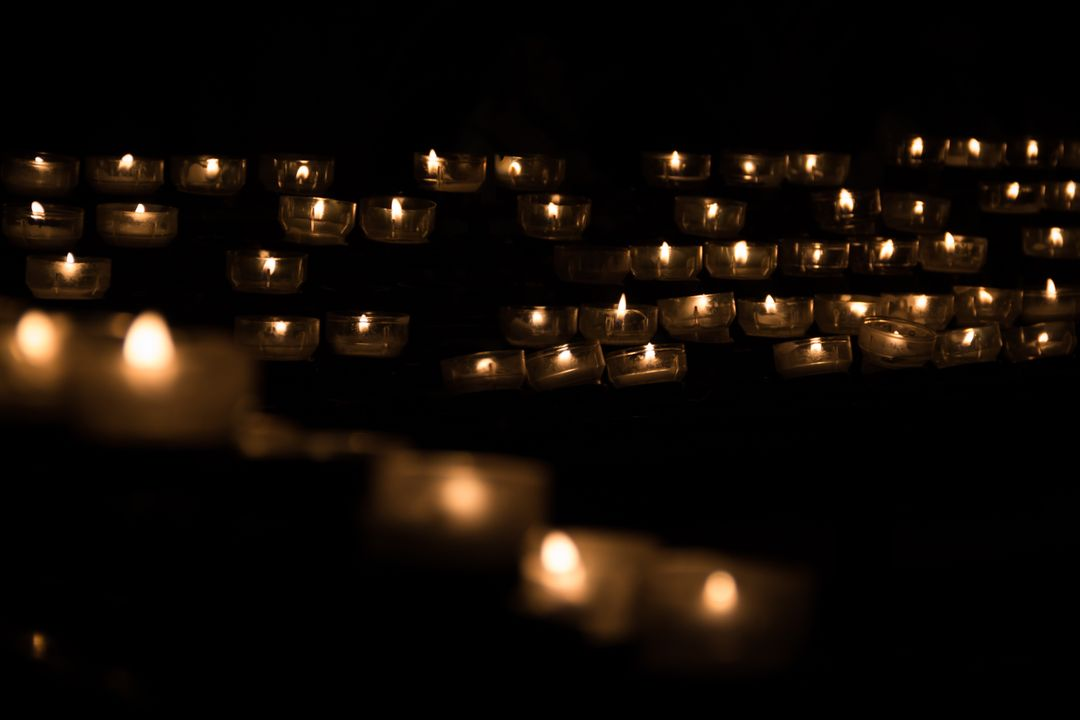 Bright candle candle light celebration
