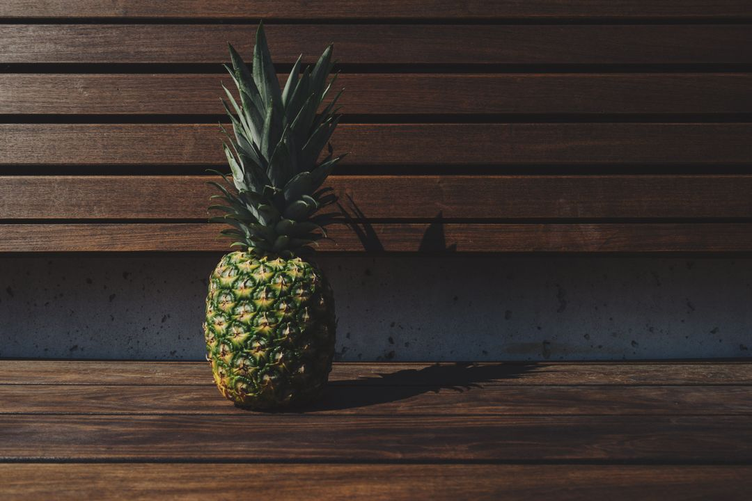 Wood bench pineapple wooden