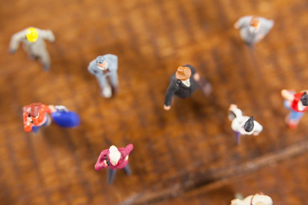 Conceptual image of miniature people travelling