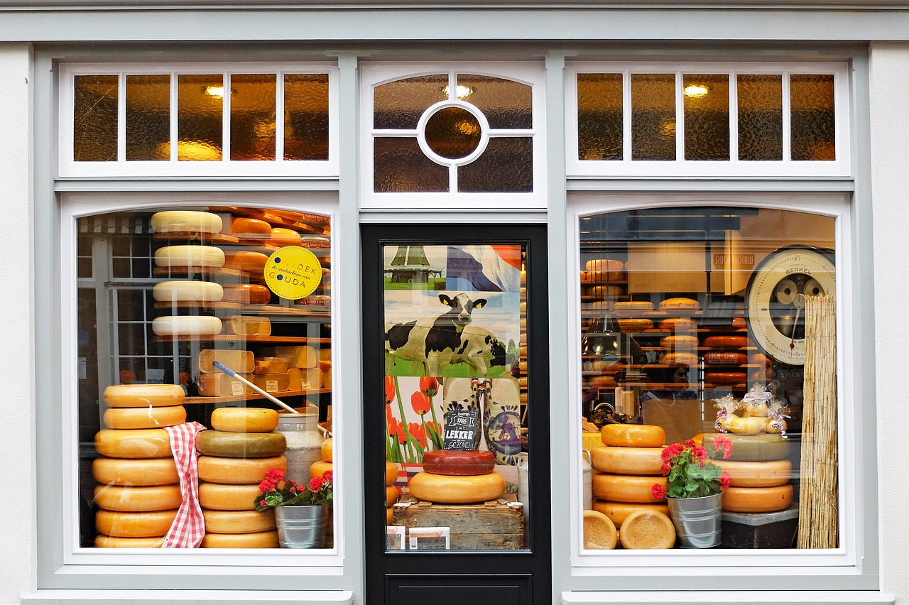 shop front with cheese in windows retail tips