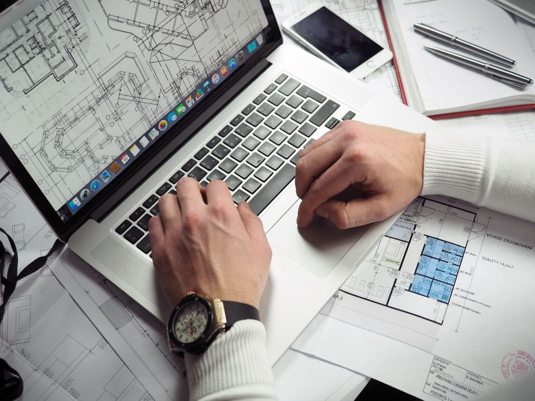 Business Man Laptop Wireframes Free Photo