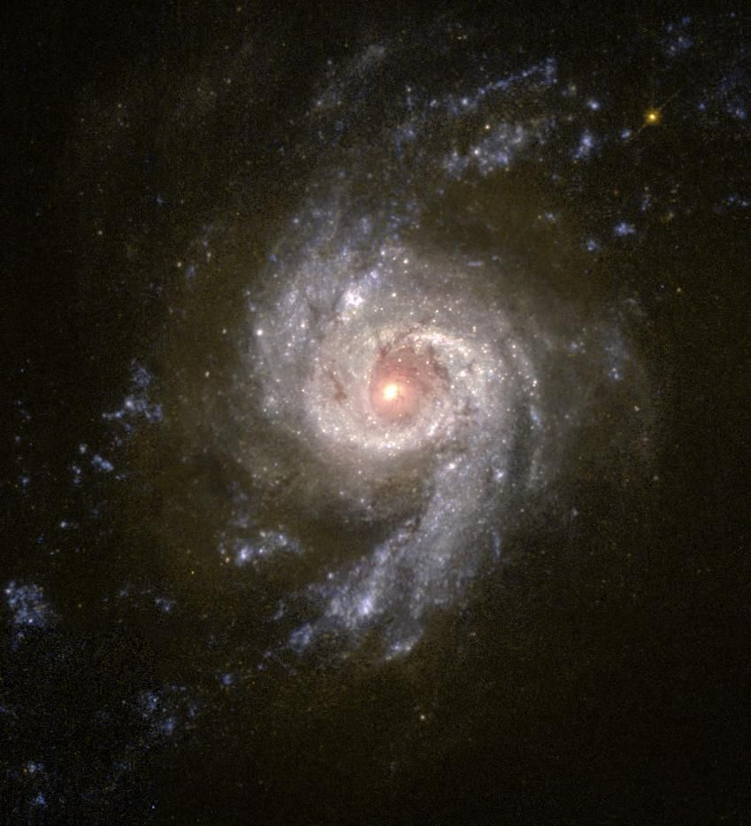 Scientists using NASA Hubble Space Telescope are studying the colors of star clusters to determine the age and history of starburst galaxies, a technique somewhat similar to the process of learning the age of a tree by counting its rings.