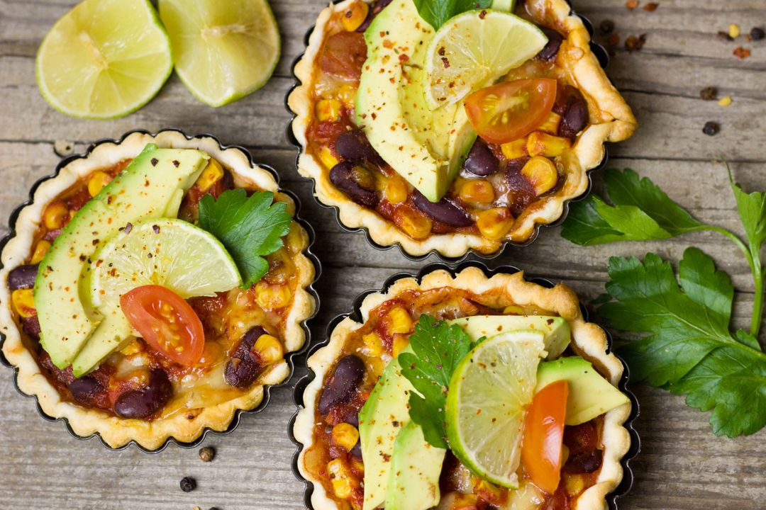 Image of Puff Pastry Filled with Cheese, Corn, Avocado