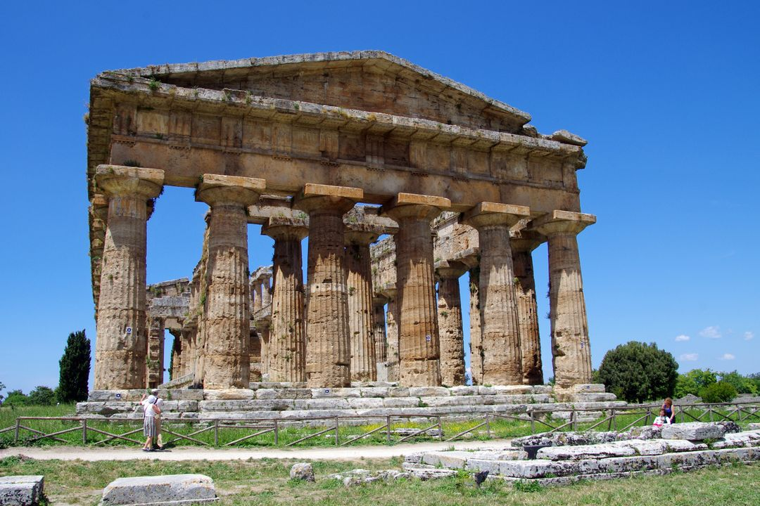 Ancient temple archaeology doric style greek temple