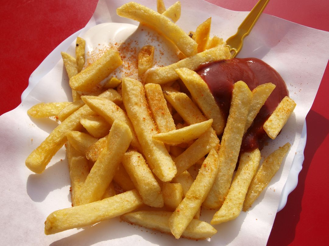 Food french fries fries catsup