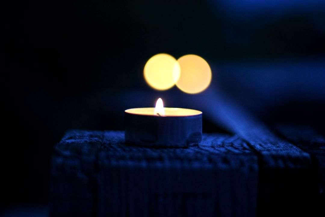 Bokeh candle candlelight dark