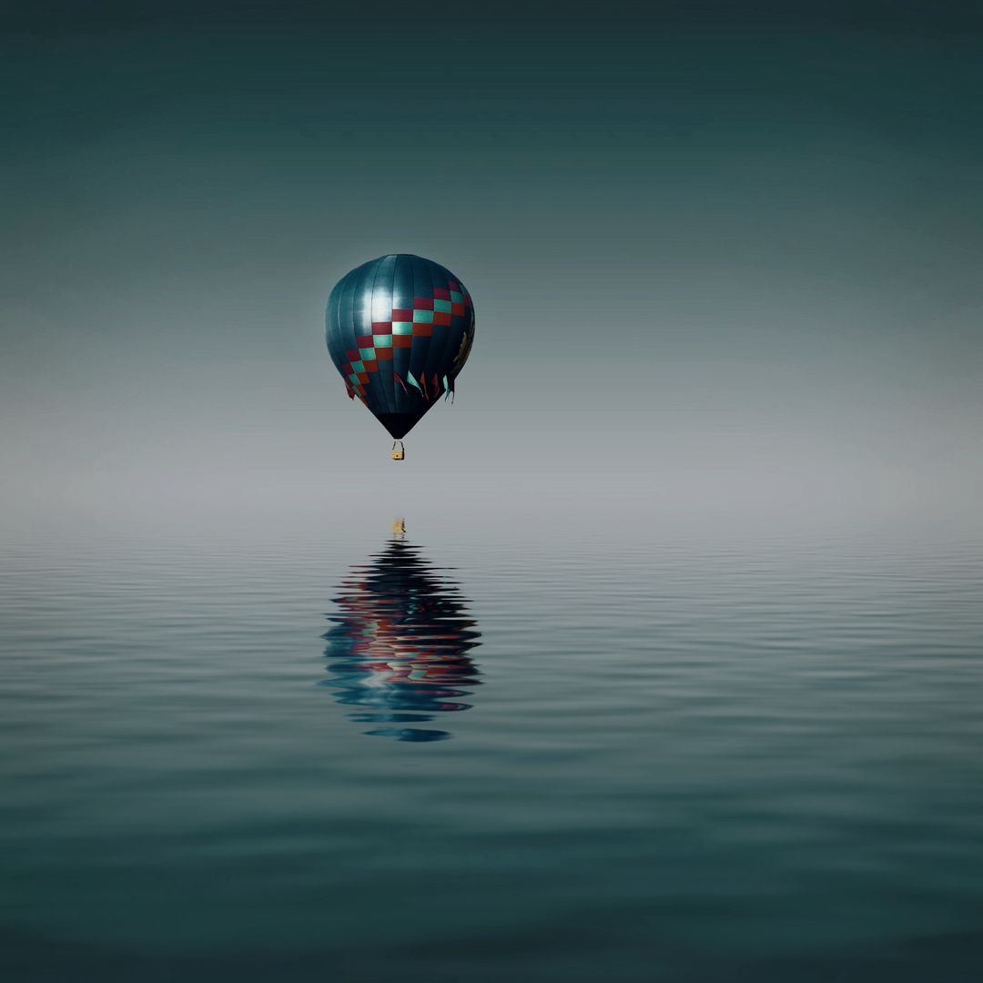 Balloon flying ocean travel