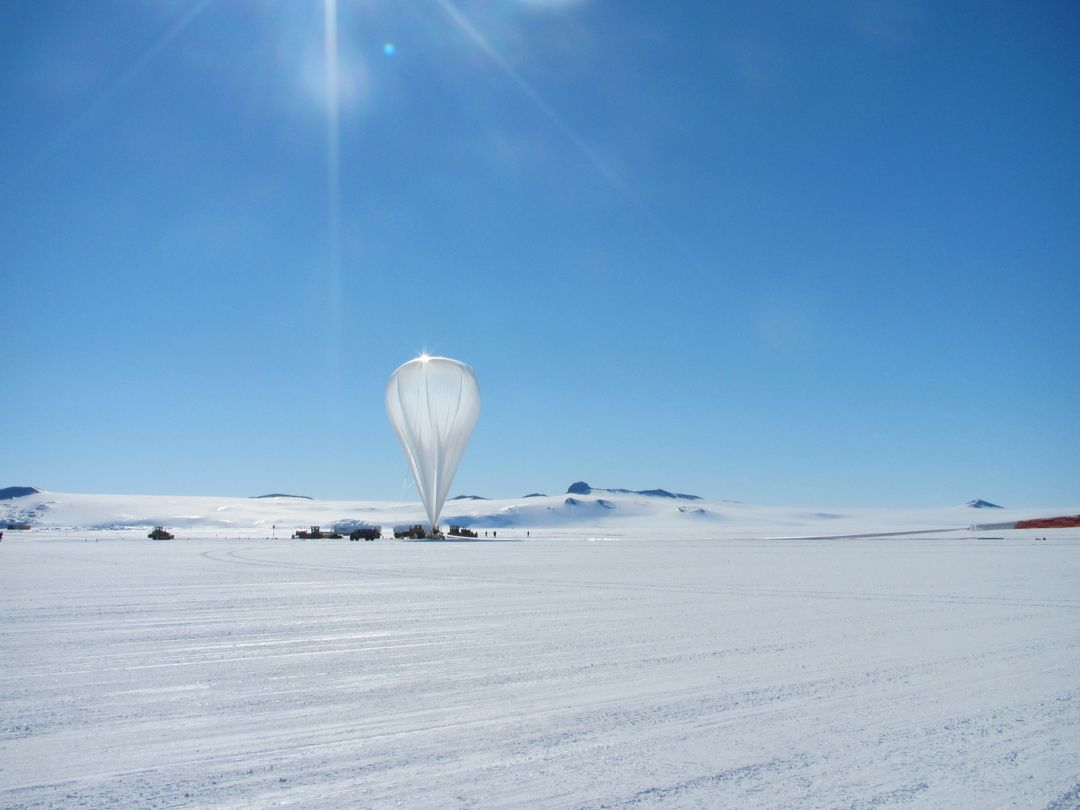 "NASA image captured December 25, 2011  A NASA scientific balloon awaits launch in McMurdo, Antarctica. The balloon, carrying Indiana University's Cosmic Ray Electron Synchrotron Telescope (CREST), was launched on December 25.  After a circum-navigational flight around the South Pole, the payload landed on January 5. The CREST payload is one of two scheduled as part of this seasons' annual NASA Antarctic balloon Campaign which is conducted in cooperation with the National Science Foundation's Office of Polar Programs. The campaign's second payload is the University of Arizona's Stratospheric  Terahertz Observatory (STO). You can follow the flights at the Columbia Scientific Balloon Facility's web site at <a href=""http://www.csbf.nasa.gov/antarctica/ice.htm"" rel=""nofollow"">www.csbf.nasa.gov/antarctica/ice.htm</a>   Credit: NASA  <b><a href=""http://www.nasa.gov/audience/formedia/features/MP_Photo_Guidelines.html"" rel=""nofollow"">NASA image use policy.</a></b>  <b><a href=""http://www.nasa.gov/centers/goddard/home/index.html"" rel=""nofollow"">NASA Goddard Space Flight Center</a></b> enables NASA's mission through four scientific endeavors: Earth Science, Heliophysics, Solar System Exploration, and Astrophysics. Goddard plays a leading role in NASA's accomplishments by contributing compelling scientific knowledge to advance the Agency's mission.  <b>Follow us on <a href=""http://twitter.com/NASA_GoddardPix"" rel=""nofollow"">Twitter</a></b>  <b>Like us on <a href=""http://www.facebook.com/pages/Greenbelt-MD/NASA-Goddard/395013845897?ref=tsd"" rel=""nofollow"">Facebook</a></b>  <b>Find us on <a href=""http://instagrid.me/nasagoddard/?vm=grid"" rel=""nofollow"">Instagram</a></b>"