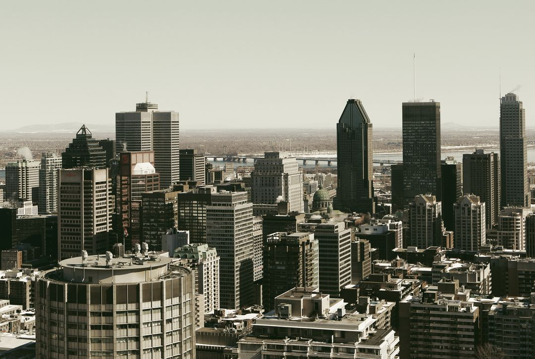 Montreal city downtown