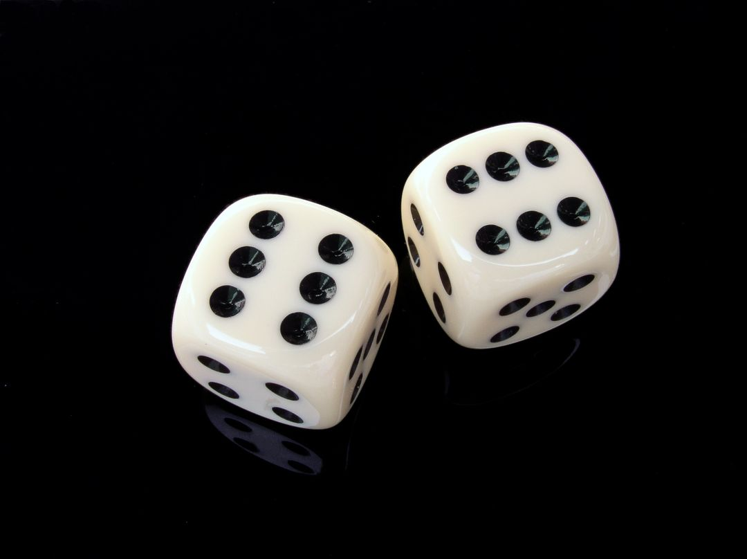 White and Black Dice