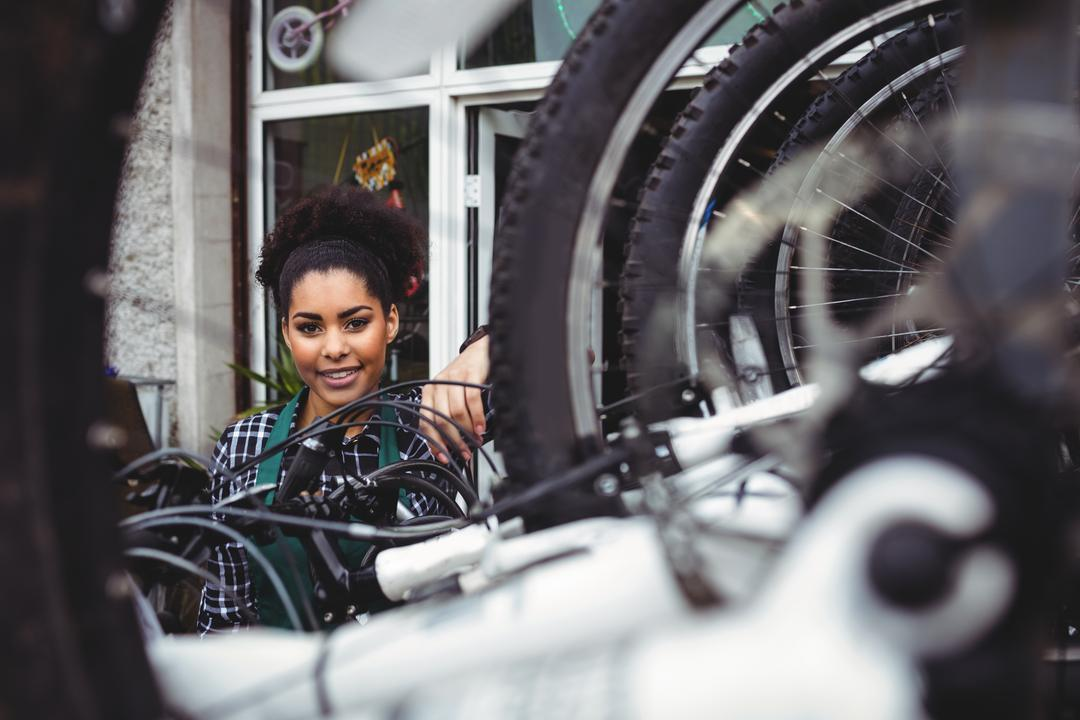 Portrait of smiling mechanic in workshop Free Stock Images from PikWizard