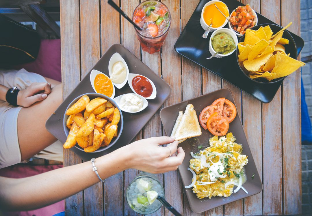 How To Start A Food Blog - nachos dip eat aerial hipster